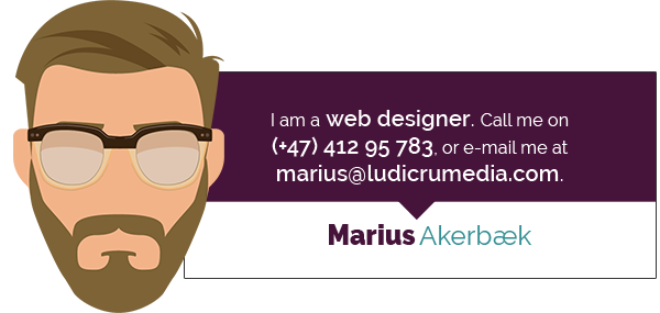 Marius business card. Illustration